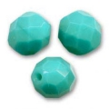 Sfaccettate mm 8 Green Turquoise x20