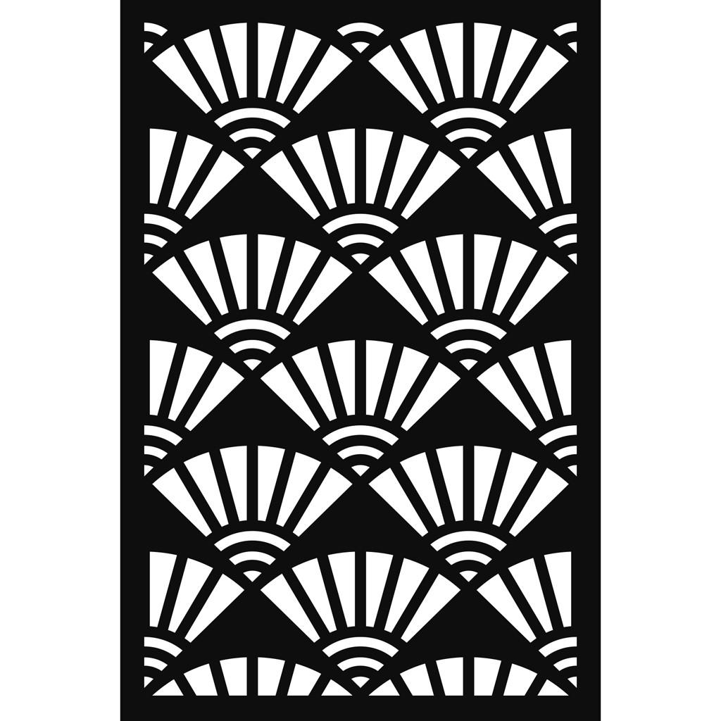 Ventagli Da Parete Decorativi stencil decorativo japan 10x15 cm - ventagli x1