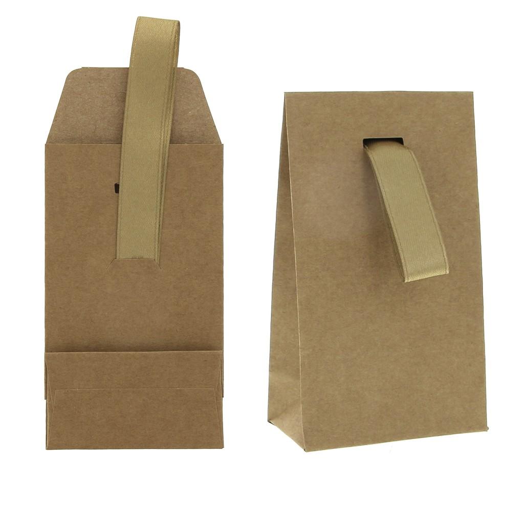 Famoso Scatolina di cartoncino cm. 7x12x4.2 con nastro - Kraft Naturel x1 OO94