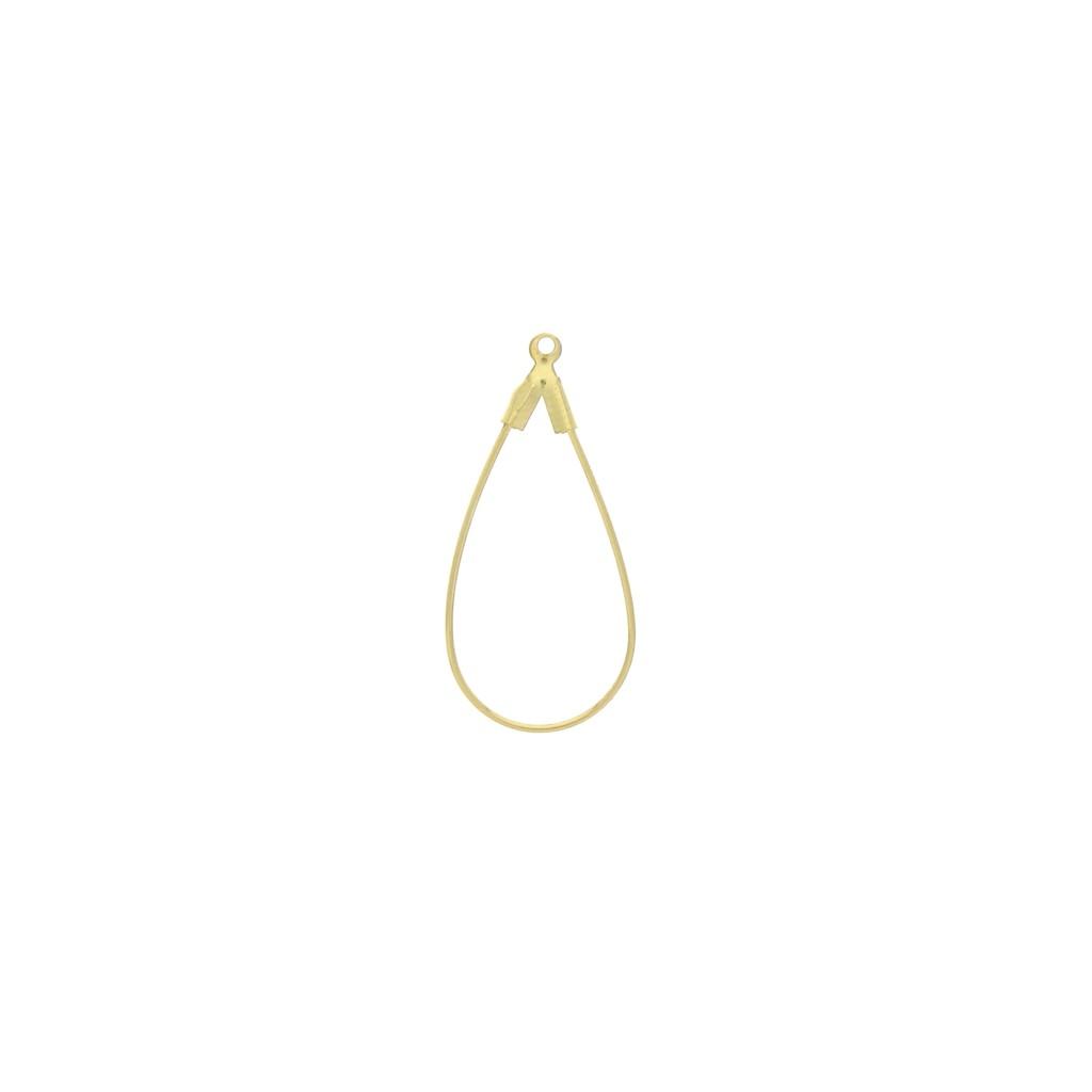 Idee Per Porta Orecchini porta orecchini goccia 15x31 mm - dorato x2