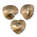 Cuori Swarovski 6228 Crystal Golden Shadow mm. 10,3x10 x6