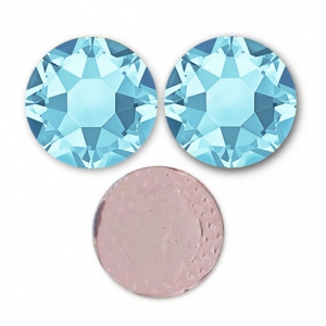 Strass Hotfix Swarovski mm. 7 Aquamarine x12