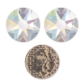 Strass Hotfix Swarovski 8 mm Crystal AB x12
