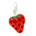 Fragola mm. 43x30 strass Rosso x1