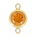 Separatori 2 anelli mm. 11x6 Topaz/Gold filled 14K x1