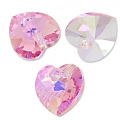Cuori Swarovski 6228 Light Rose AB mm. 10,3x10 x6