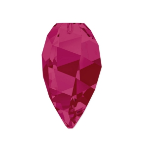Twisted Drop Swarovski 6540 12 mm Ruby x1