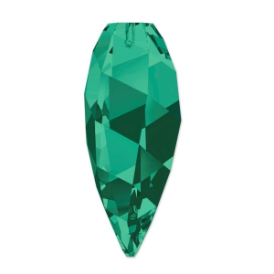 Twisted Drop Swarovski 6540 20 mm Emerald x1