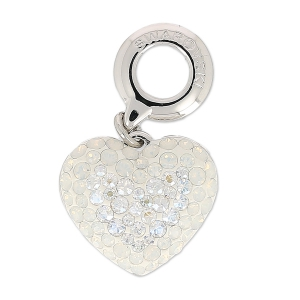 Pavé Charms Swarovski 86502 mm. 14 White Opal/Crystal Moonlight x1