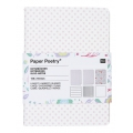 Set Paper Poetry bloc notes 105x140 mm Romantic Flowers x3