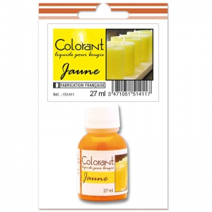 Colorante liquido per candele Giallo x27ml