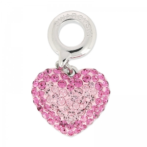 Pavé Charms Swarovski 86502 mm. 14 Light Rosa/Rosa x1