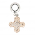Pavé Charms Swarovski 86522 mm. 14 Light Peach/Silk x1