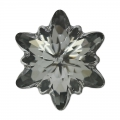 Cabochon Swarovski 4753 Edelweiss mm. 18 Crystal Silver Night x1
