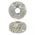 BeCharmed Pavé Swarovski 81712 mm. 14 Crystal Silver Shade/Greige x1