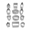 Set di mini stampini in metallo forme geometriche x12