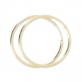 Orecchini ad anello 24 mm in Gold filled 14 carati x2