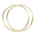 Orecchini ad anello 30 mm in Gold filled 14 carati x2