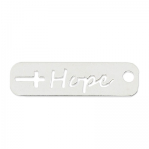Ciondolo forato hope 22 mm in Argento 925 x1