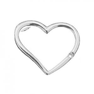 Pendente cuore 18 mm in Argento 925 x1