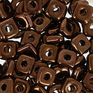 Quad® Bead 4 mm Dark Bronzo x5g