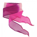 Nastro in seta mm.25 Tie and Dye Princess Rosa/Fuchsia/Purple x85cm