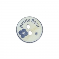 Bottone Madreperla Petite fleur 10 mm Navy Blue x1