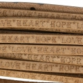 Laccetto cuoio Love Heart Hope 5 mm Naturel x30cm