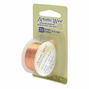 Filo di rame Artistic Wire mm. 0.41 col Naturel x13,7m