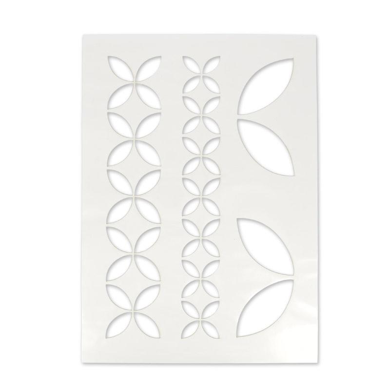 Stencil adesivo per tessuto 210x297 mm geometrico a fiori for Stencil adesivi