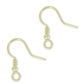 Ganci palline per orecchini mm. 18 light gold x6