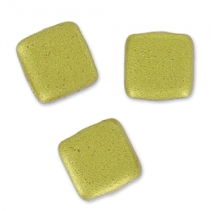 Tile beads 6 mm Aztec Gold Mat x50