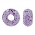 Perle foro grande 9x14mm Purple Marmo x5
