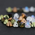 Button Bead 4 mm Crystal Copper Rainbow x50
