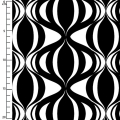 Tessuto Op Art Reflection - Black/white Ribbon Weave x10cm