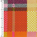 Tessuto Breezy Blooms - Multi Check Dot Plaid x10cm