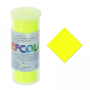 Polvere per smaltatura Efcolor giallo Fluo x10ml
