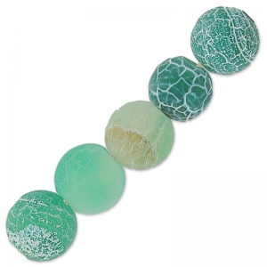 Cracked Agata 6 mm Green Turquoise x15