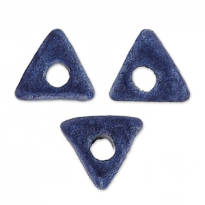 Triangoli in ceramica 7 mm Blu Marino mat x10