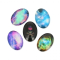 Cabochons ovali decorati 25x18 mm Galaxy x10