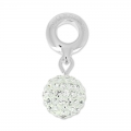 Pavé Ball Charms Swarovski 87003 mm. 8 Crystal  x1