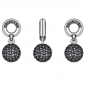 Pavé Ball Charms Swarovski 87003 mm. 8 Jet Hematite x1