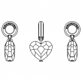 Love Charms Swarovski 87004 mm. 12 Crystal Antique Pink x1