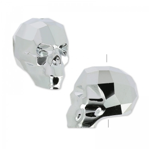 Teschio Swarovski 5750 13 mm Crystal Light Chrome 2X x1
