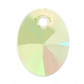 Xilion Oval Swarovski 6028 8 mm Crystal Luminous Green x1