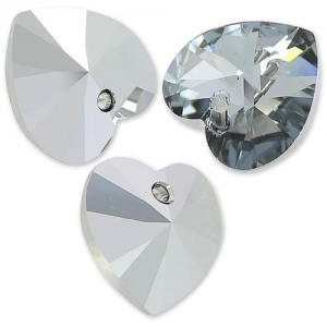 Cuore Swarovski 6228 mm. 14,4x14 Crystal Light Chrome x1