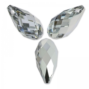 Gocce Swarovski 6010 mm. 11x5.5 Crystal Light Chrome x4