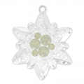 Pavé Pendente Swarovski 67442 20 mm Crystal Moonlight/Lt Grey Opal x1