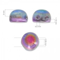 Perle Cabochon 2 fori 6 mm Pastel Light Coral x20