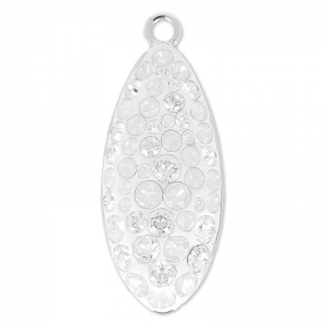 Pavé Pendente Swarovski 67492 20 mm Crystal Moonlight/White Opal x1